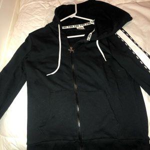 pink jacket zip up